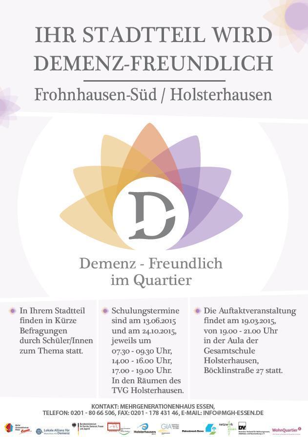 "Infoblatt zum Projekt ""Demenz-freundlich im Quartier"""
