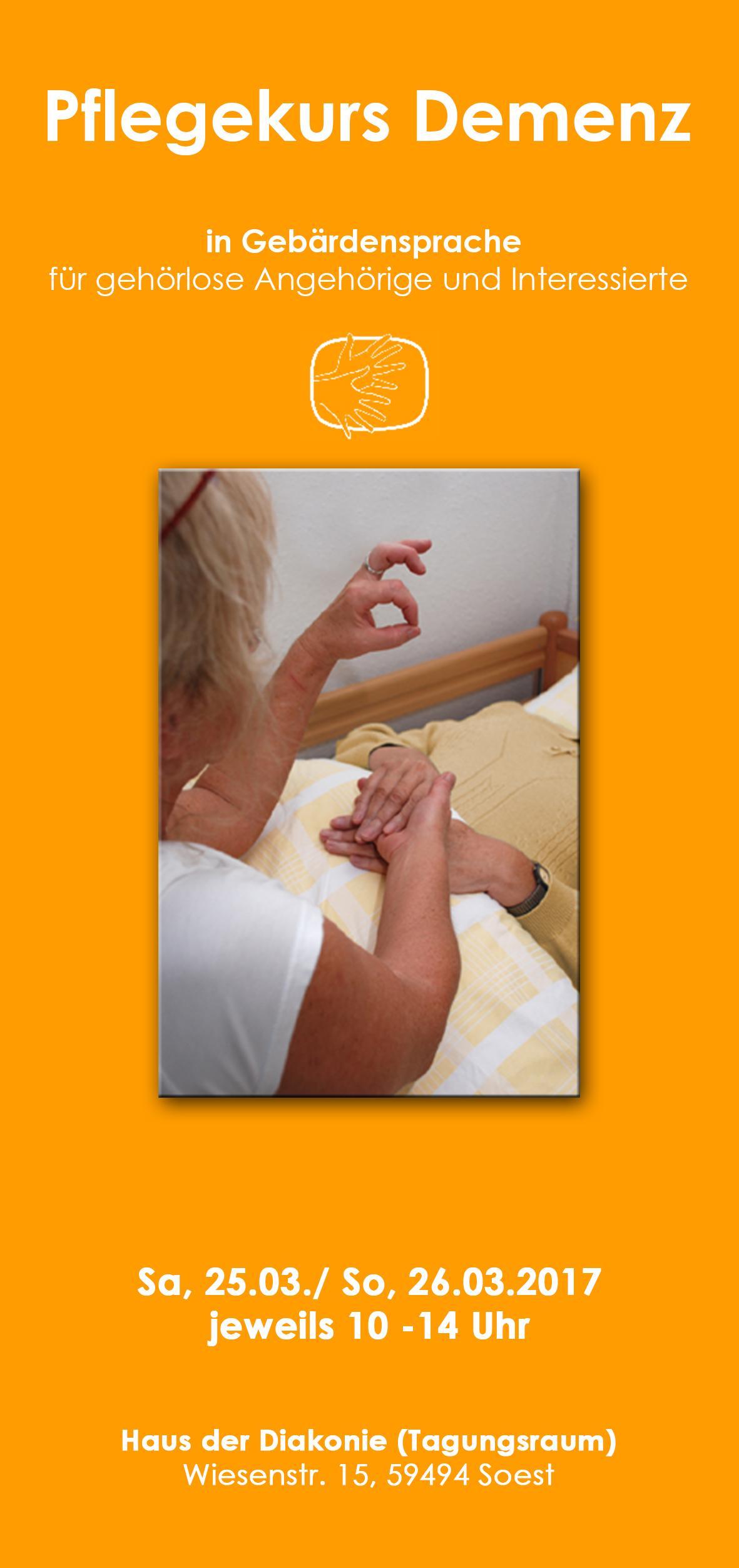 Kostenloser Pflegekurs Demenz für gehörlose Angehörige in Soest